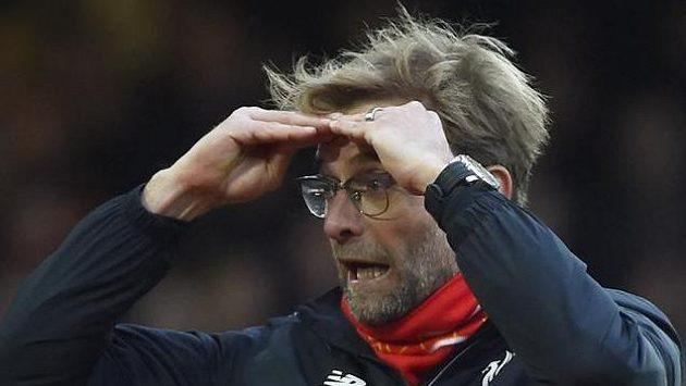 Trenér Liverpoolu Juergen Klopp během utkání s West Hamem
