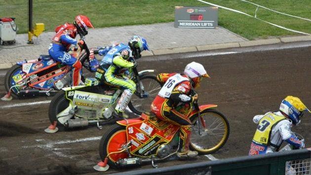 Václav Milík (16) na startu jedné z jízd při loňské GP na Markétě.