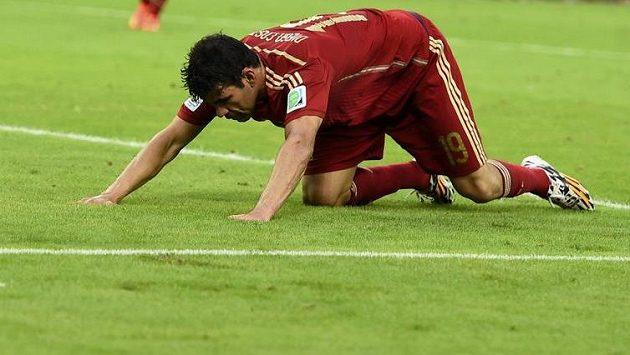 Diego Costa v dresu španělské reprezentace.