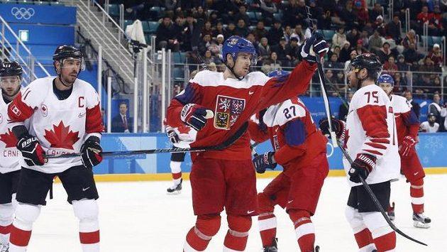 Roman Červenka slaví gól do sítě Kanady.