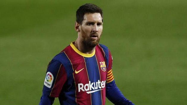 Barcelonský Lionel Messi během utkání s Elche.