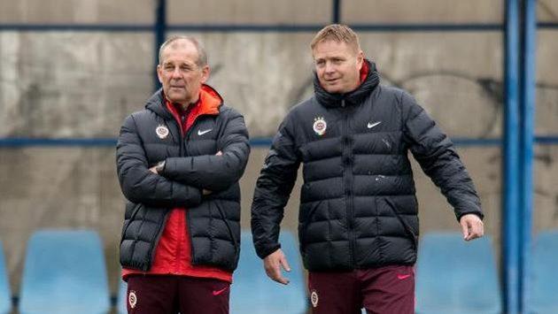 Stanislav Hejkal (vpravo) během angažmá ve Spartě s Petrem Radou.