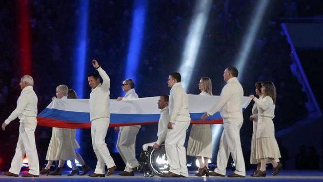 Zahajovací ceremoniál paralympiády v Soči.