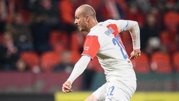 Michael Krmenčík během utkání proti Olomouci