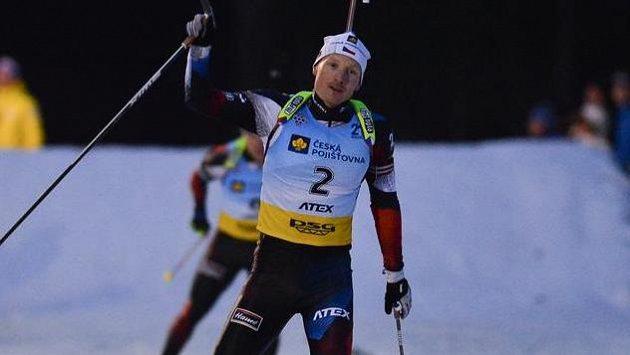 Na snímku je vítěz supersprintu Ondřej Moravec.