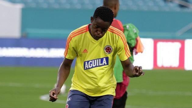 Kolumbijský obránce Evertonu Yerry Mina před reprezentačním soubojem s Brazílií.