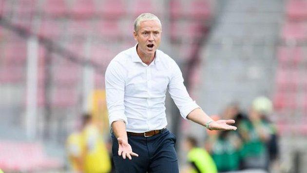 Trenér Sparty Praha Václav Jílek nemá moc důvodů k radosti.