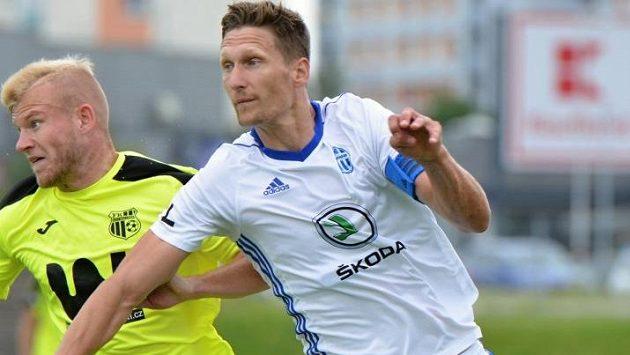 Útočník Milan Škoda v dresu Mladé Boleslavi.