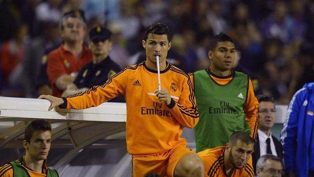 Cristiano Ronaldo při utkání s Valladolidem záhy musel ze hřiště.
