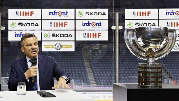 Ilustrační snímek. Prezident Mezinárodní hokejové federace (IIHF) René Fasel.