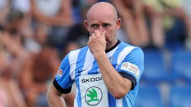Jiří Štajner z Mladé Boleslavi během utkání proti svému Liberci.