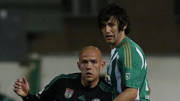 Zoran Gajič (vpravo) v souboji s Romanem Bednářem.