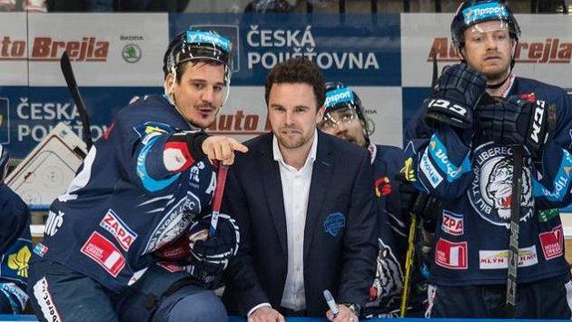 Liberecký útočník Branko Radivojevič a trenér Filip Pešán.
