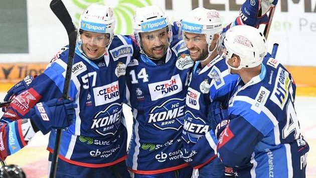 Hokejisté Komety Brno. Ilustrační foto.