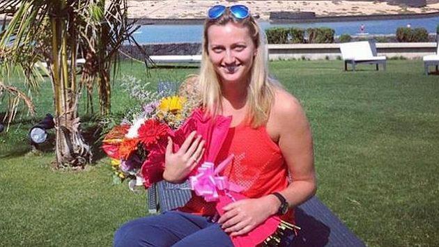 Petra Kvitová na archivním snímku z letošního jara. Hromada přání k narozeninám tenistku zkoušenou osudem dojala.