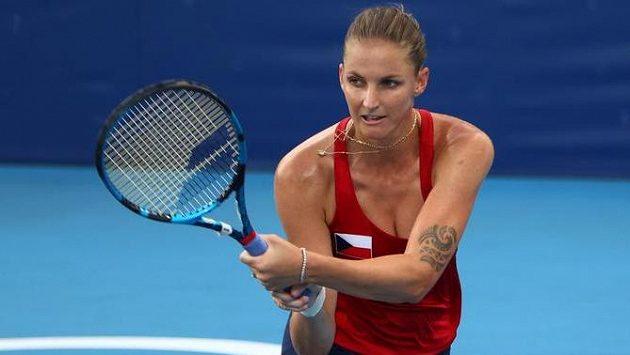 Karolína Plíšková v olympijském osmifinále.