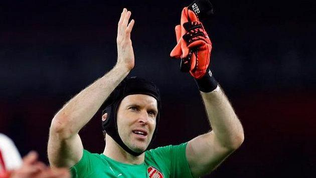Petr Čech z Arsenalu po odvetě EL s Borisovem.