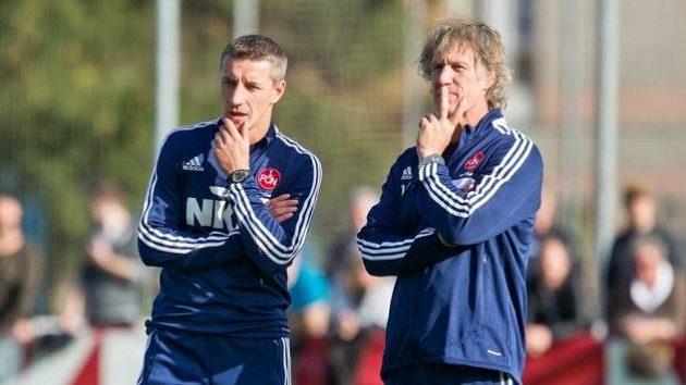 Bývalý slovenský útočník Marek Mintál (vlevo) bude jedním z nových trenérů fotbalistů Norimberku.