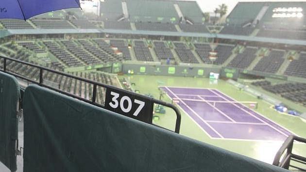 Tenisový stadión v Miami.