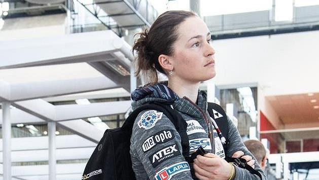 Veronika Vítková před odletem na MS do švédského Östersundu.