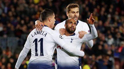 Tottenham trefil v Barceloně postup, v osmifinále Ligy mistrů jsou i Liverpool a Paris SG