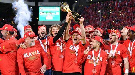 Na Hané slavili pohárový triumf, v neděli po derby čeká Slavii mistrovské repete