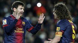 Čtyřgólové představení Lionela Messiho v utkání s Osasunou