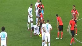 Kontroverzní gól fotbalistů Zenitu Petrohrad a podivný rozhodčí