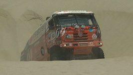 Zapadlý Loprais ve třetí etapě Dakaru