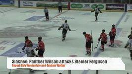 Zákeřný faul hokejisty Wilsona.