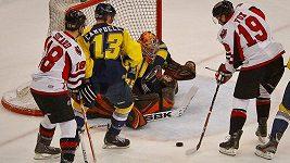 Hromadná bitka na hokejovém utkání