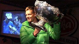 Tomáš Berdych oslavoval s fanoušky ve Valašském Meziříčí zisk Davis Cupu.