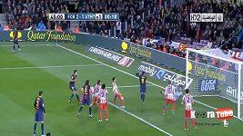 Góly v zápase Barcelona - Atletico Madrid