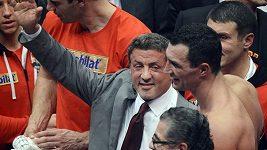 Hereck Rockyho Sylvestre Stallone gratuluje Vladimíru Kličkovi