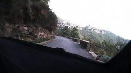On-board kamera ve voze Jana Kopeckého při Rallye San Remo