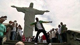 Usain Bolt na návštěvě v Rio de Janeiru