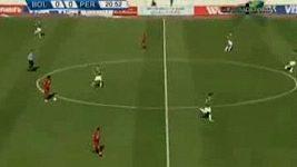 Neskutečné góly v zápase Bolívie - Peru