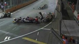 Michael Schumacher smetl v Singapuru Jeana-Erica Vergneho