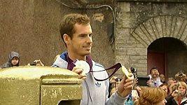 Andyho Murrayho přivítali v jeho rodném městě