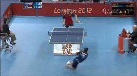 Stolní tenista předvedl na paralympiádě tygří skok