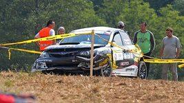 Nehoda Václava Kopáčka při Barum rallye