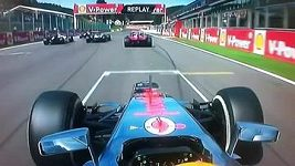 Havárie ve Spa z pohledu Lewise Hamiltona