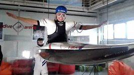 Olympionici si vyzkoušeli vzduchový tunel