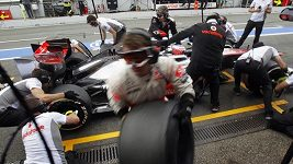 Rekordní zastávka v boxech Jensona Buttona
