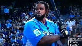 Vítěz Fielder při Homerun Derby v MLB