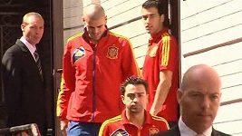 Fotbalisté Španělska vyrazili pár hodin před finálovým zápasem do muzea v Kyjevě
