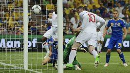 Vítězný gól Wayna Rooneyho proti Ukrajině