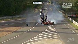 Děsivá nehoda na Le Mans