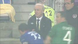 Chorvat Mandžukič nechtěně srazil trenéra Irů Trapattoniho