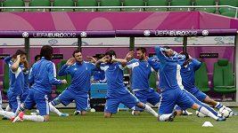 Trénink fotbalistů Řecka
